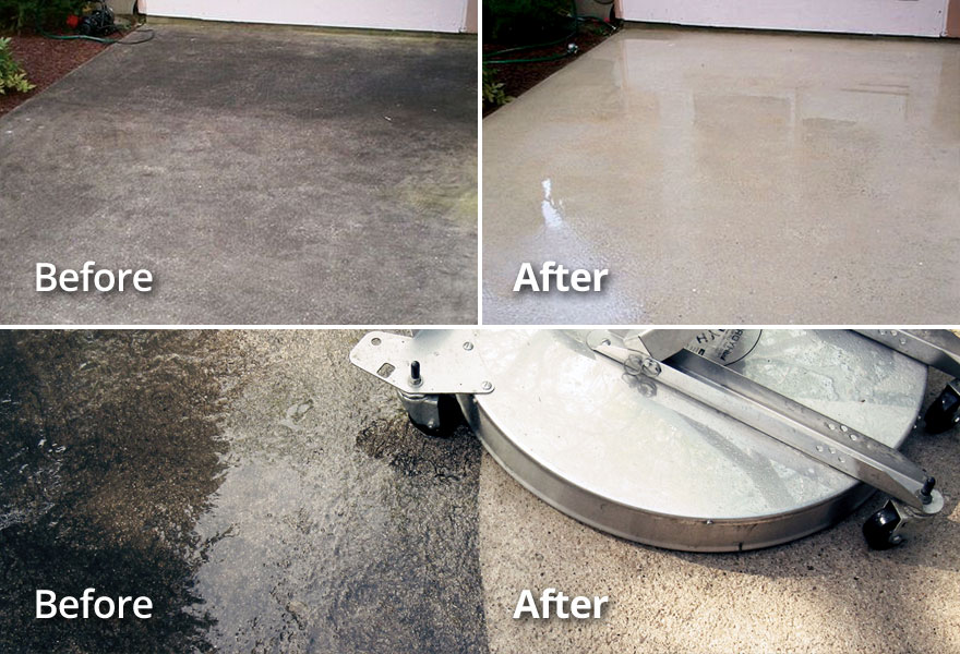 Concrete Driveway, Patio Cleaning TN VA Tri-Cities