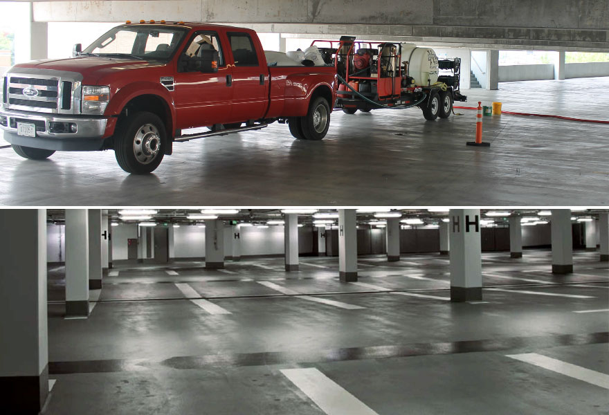 Parking Garage Pressure Washing TN VA Tri-Cities